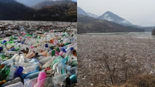 Le 31 décembre 2020, le lac de Potpeć, en Serbie, a été envahi par des déchets en plastique.