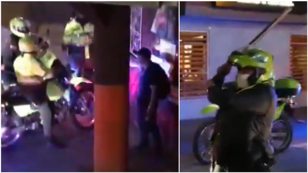 Capture d'écran d'une vidéo tournée à Bogota le 9 septembre, publiée sur Twitter.