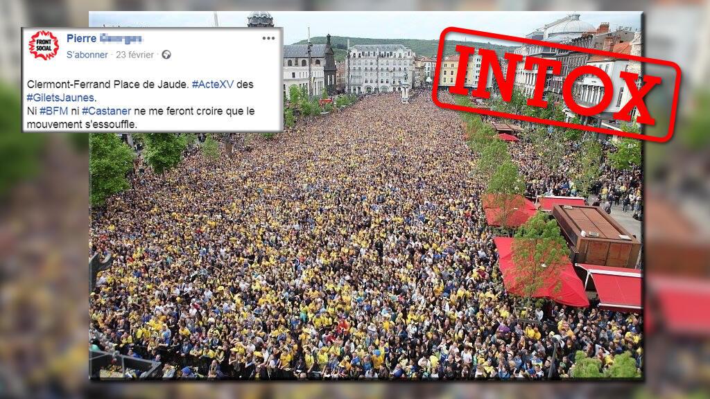 Une photo de la mobilisation des Gilets jaunes à Clermont-Ferrand? Non, une image vieille de 4ans.