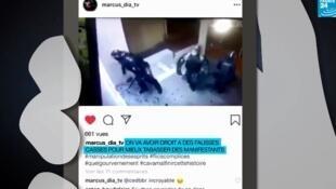 Cette vidéo a circulé sur Instagram en décembre 2019, prétendant montrer des violences policières en France. Crédit Info ou Intox / Les Observateurs