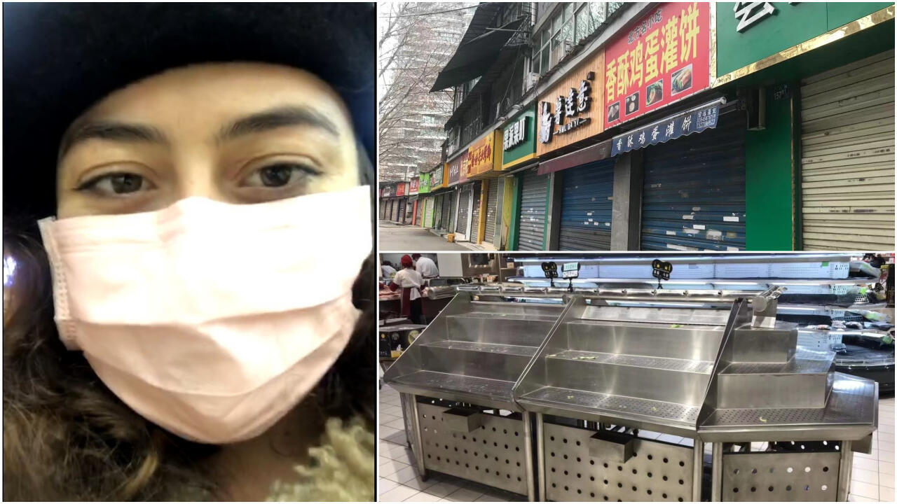 Amélie Chapalain, a French student stuck in the Chinese city of Wuhan, which has been placed under quarantine because of a coronavirus outbreak, posts regular updates on her Instagram account.