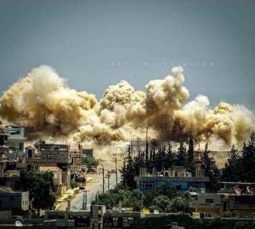 Deuxième image partagée autour des bombardements à Deraa le 31 août 2021.