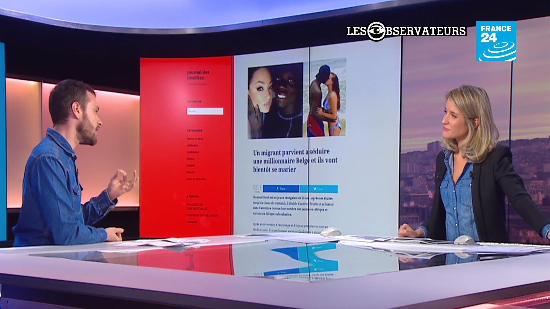 """""""Un migrant sénégalais épouse une riche héritière belge..."""". L'information vous surprend ? C'est normal, elle vient d'un site parodique !"""