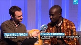 """Notre Observateur co-fondateur du cartable solaire ivoirien """"Solarpak"""" est venu nous rendre visite pour donner des nouvelles de son projet."""