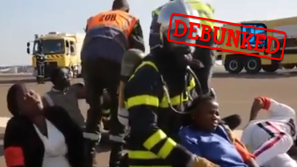 Many people who shared this video believed it showed people panicking in the Dakar Airport after hearing that someone on site had come down with Covid-19.