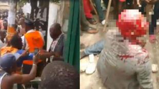 Au Gabon, des rumeurs d'enlèvement d'enfants ont créé une psychose et causé la mort de deux personnes soupçonnées de kidnapping. Photos publiées sur Facebook.