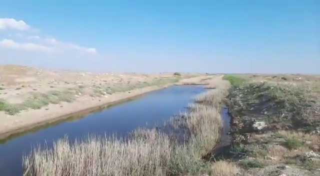 A video posted on Twitter on July 13 shows one of the canals that feeds Lake Tuz. The canal has been blocked by a dam.