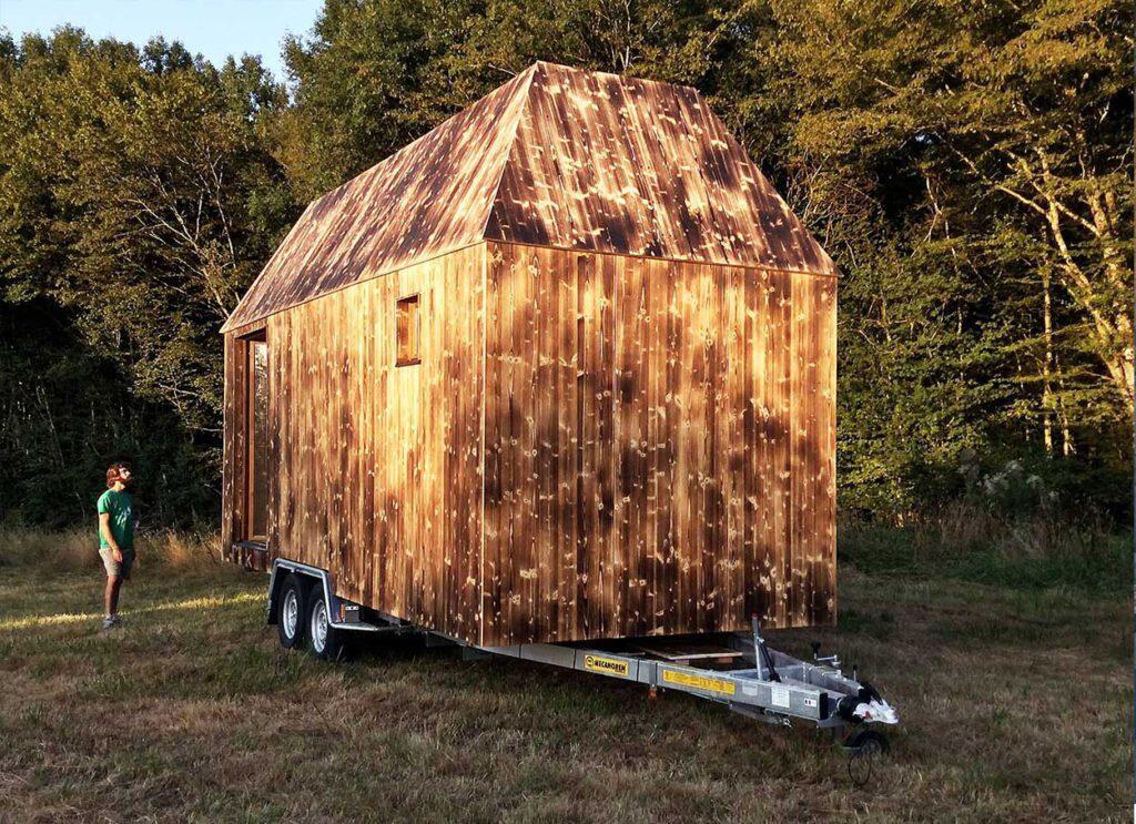 """La """"mini maison"""" créée par l'association Quatorze. Photo: Quatorze"""