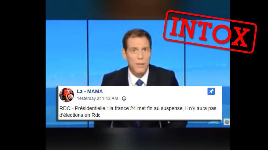Une vidéo tronquée d'un ancien épisode du Débat France 24 circule sur les réseaux sociaux. Sortie de son contexte, elle berne des internautes qui pensent que le présentateur annonce l'annulation des élections du 23 décembre, ce qui est faux.