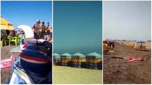 """Captures d'écran des vidéos relayées par le groupe Facebook  """"Meilleurs et pires coins d'Algérie""""."""