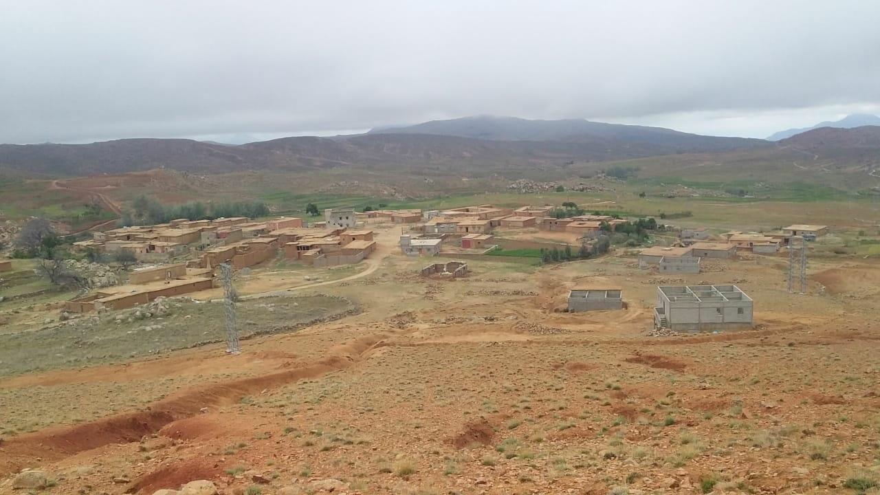 Photo de la commune d'Askaoun, voisine de la mine d'argent de Zgounder, dans le sud du Maroc.