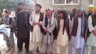 Screen grab from a video published online by the Taliban in Afghanistan. The men's faces were blurred by France 24.