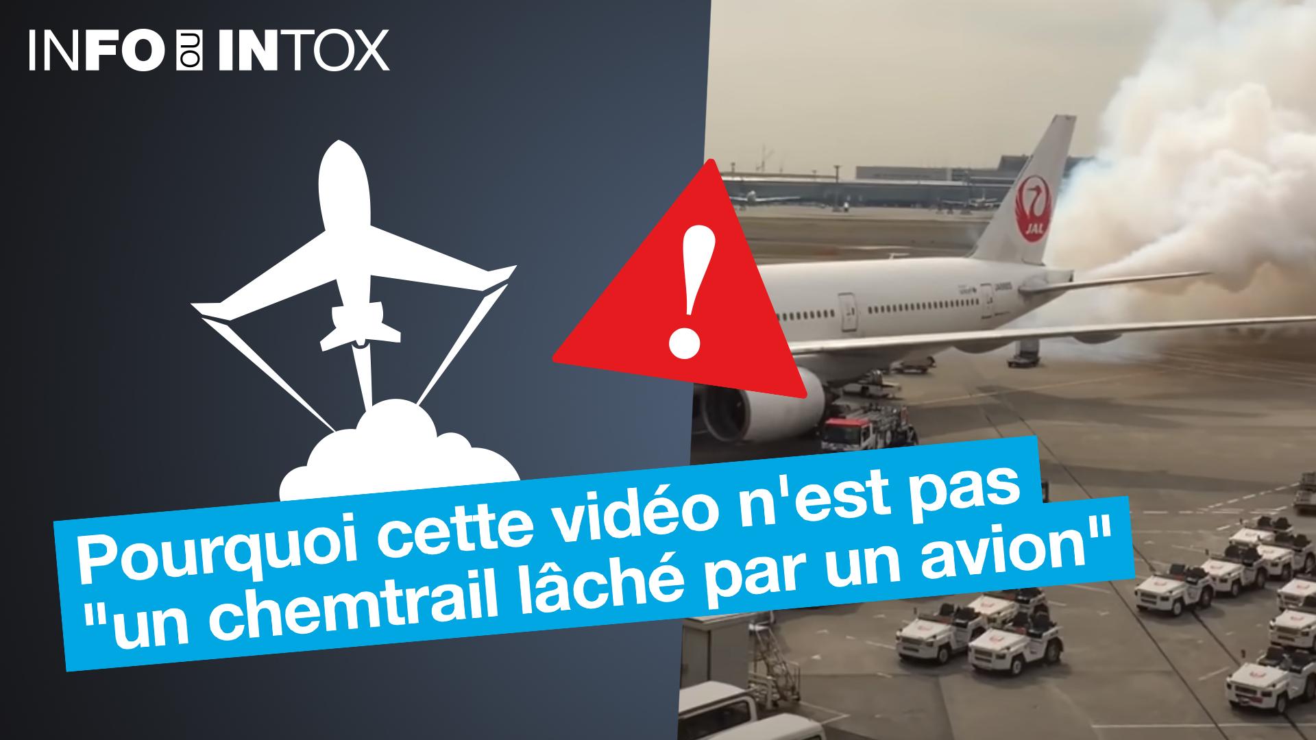 De la fumée lachée par un avion, signe d'un chemtrail ? On analyse cette vidéo dans le dernier épisode de Info ou Intox.