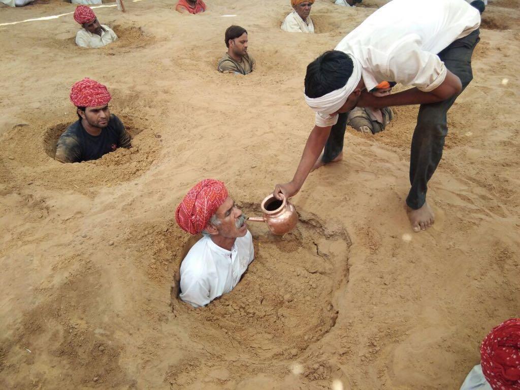 Un agriculteur à Nindar, près de Jaipur. Photo : Nagendra Singh Shekhawat.
