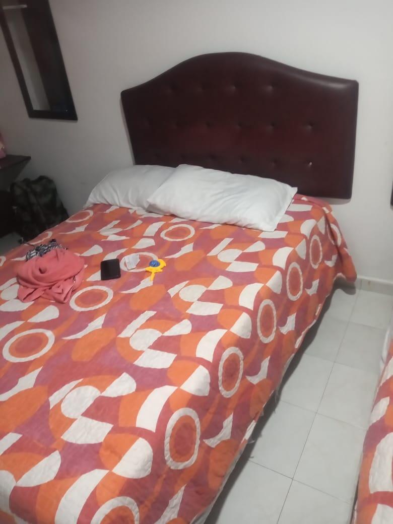 Le lit où a dormi Wansche Gourdet à Necoclí.