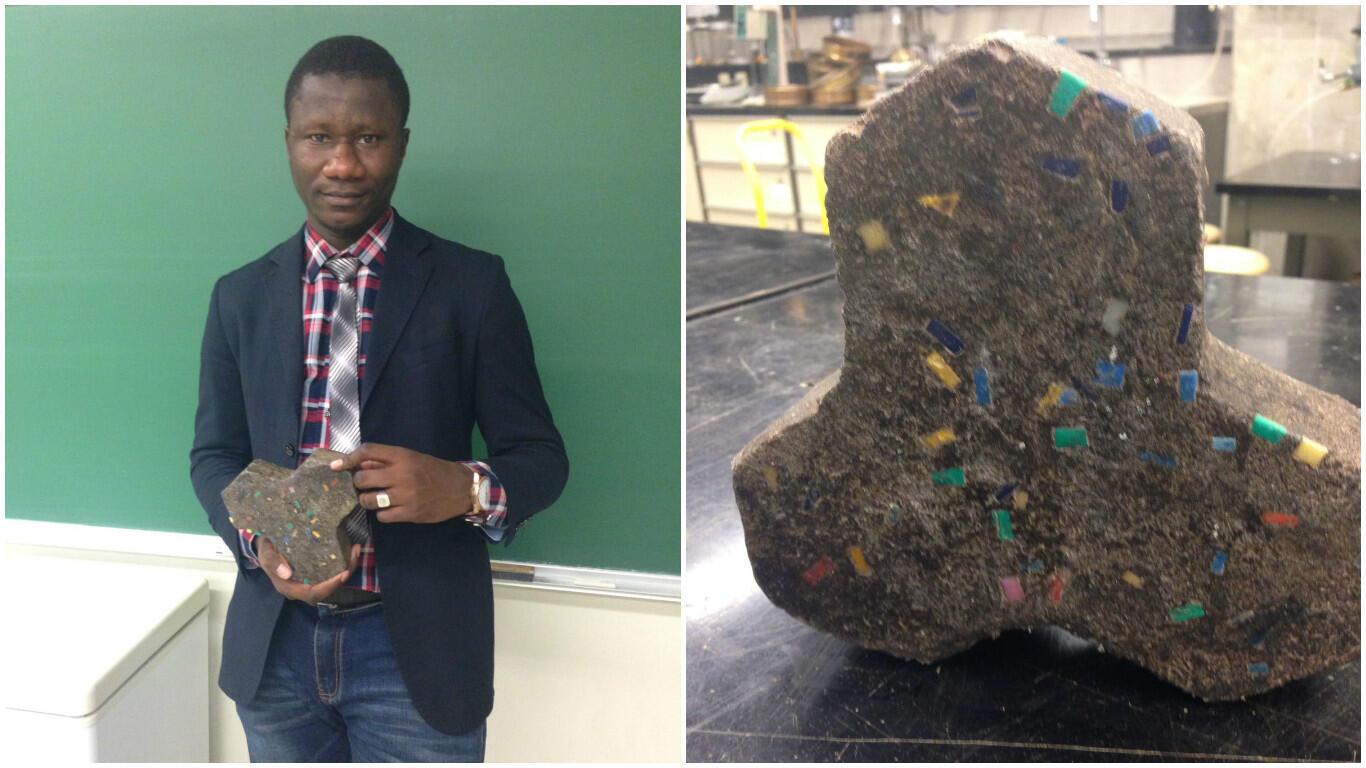 Un jeune Malien, Moussa Thiam, pense avoir créé un nouveau ciment, plus léger et surtout plus écologique.