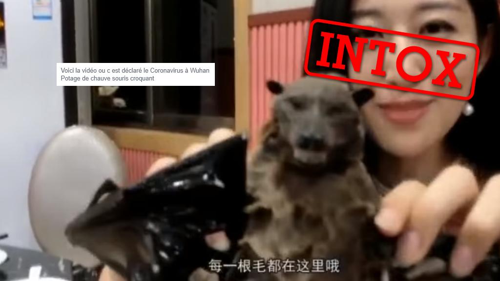 Capture d'écran d'une vidéo massivement partagée sur les réseaux sociaux, notamment Twitter et Weibo.