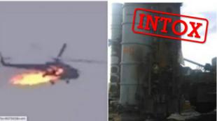 Une image d'hélicoptère abattu, une autre d'un missile prétendument intercepté, font partie des intox relayées en marge du conflit au Haut-Karabakh.