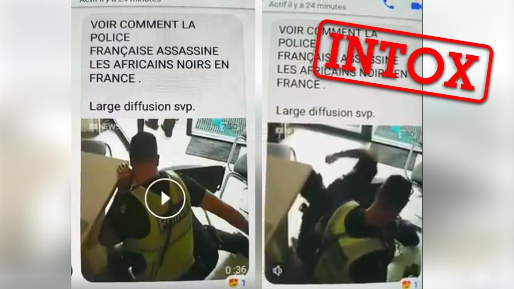 """Une vidéo diffusée dans les réseaux congolais prétend montrer un tabassage d'un """"Africain noir"""" en France, mais elle vient en fait d'Australie."""
