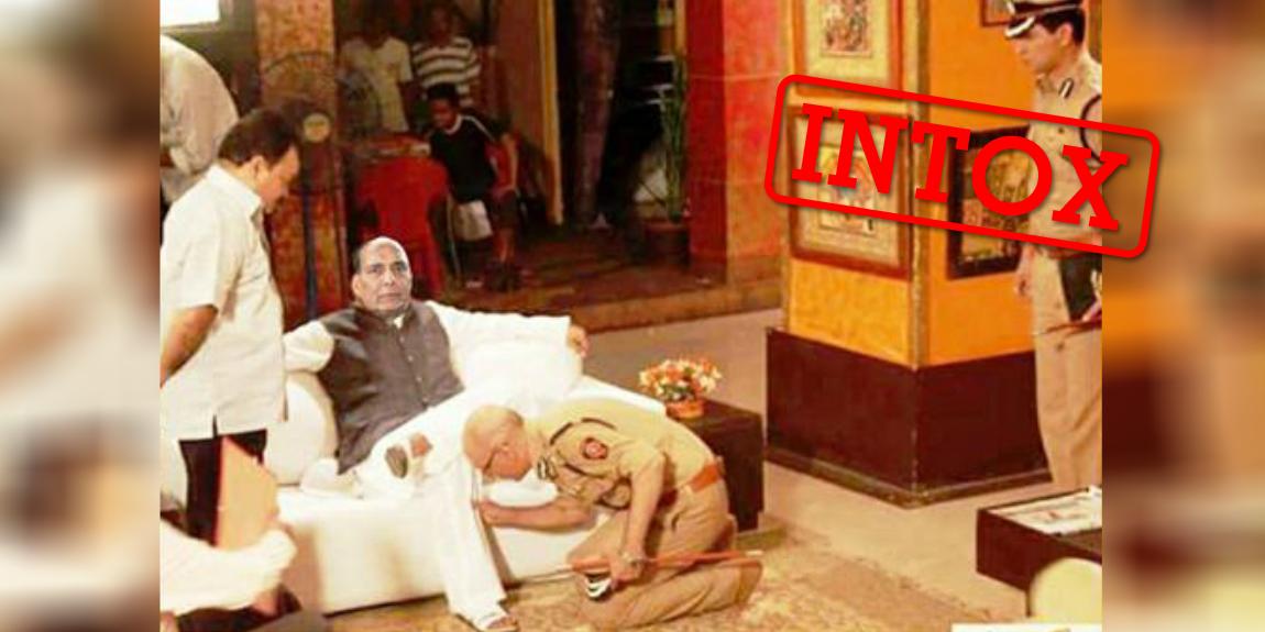 Cette image photoshopée a été très relayée sur les réseaux sociaux en Inde, notamment par le porte-parole de l'un des principaux partis politiques du pays.