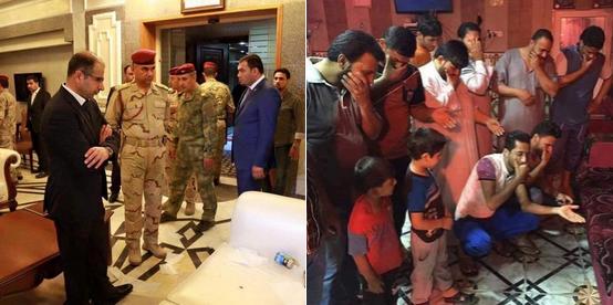 La photo du porte-parole du Parlement, à gauche, a suscité de nombreuses parodies sur les réseaux sociaux. Photos : Twitter.