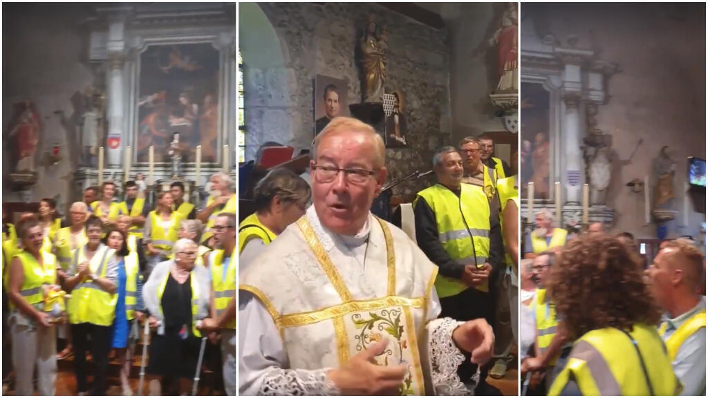 Yellow Jacket supporters attended a mass in Normandy on June 2. (Photo: Facebook)