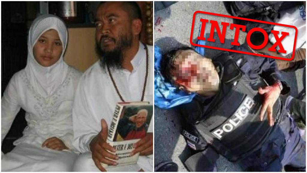 Ces deux images ont circulé sur les réseaux sociaux en France pour illustrer des événements franco-français... mais elles viennent en réalité d'Asie. Explications.