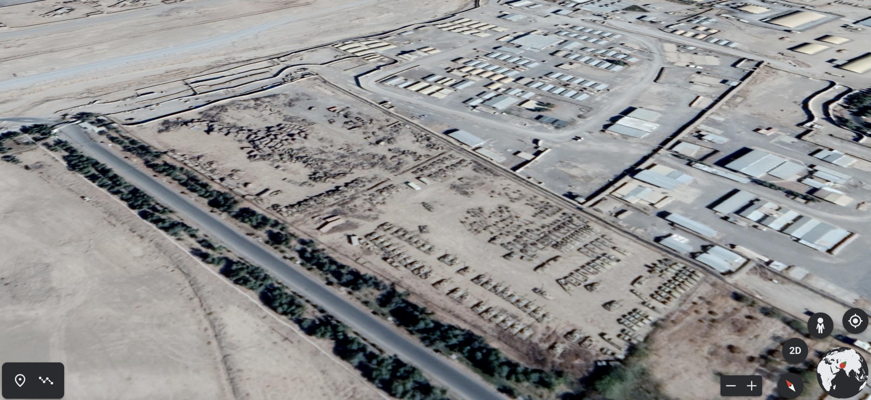"""Capture d'écran Google Earth aux coordonnées : 31°29'00""""N 65°51'50""""E"""