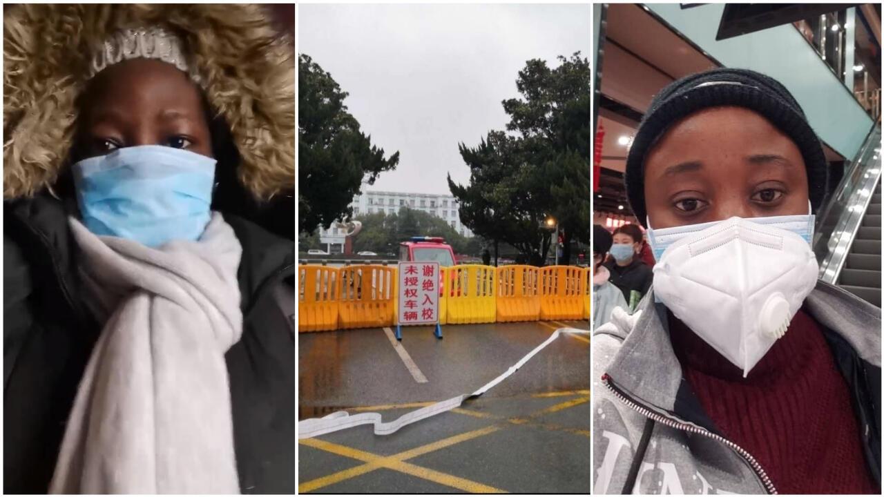 Plusieurs étudiants africains sont coincés à Wuhan, en Chine, épicentre de l'épidémie de coronavirus. Crédits : Aty Traore / Facebook; Seydou Kéita; Dominique Kadi.
