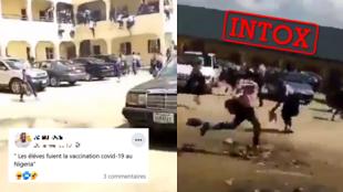 Une vidéo prétend montrer un mouvement de panique parmi les élèves d'une école au Nigeria dû à une prétendue opération de vaccination Covid-19. Attention à l'intox!