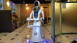 One fast-food restaurant in Afghanistan recently made a buzz by employing a robot as a waiter. Source: @IsmailHotak1
