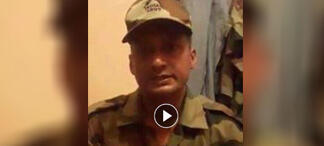 """Screengrab from a video that went viral in India and that the Indian army denounced as a """"fake""""."""