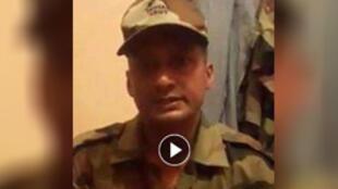 Capture d'écran d'une vidéo devenue virale en Inde, dénoncée par l'armée indienne comme fausse.