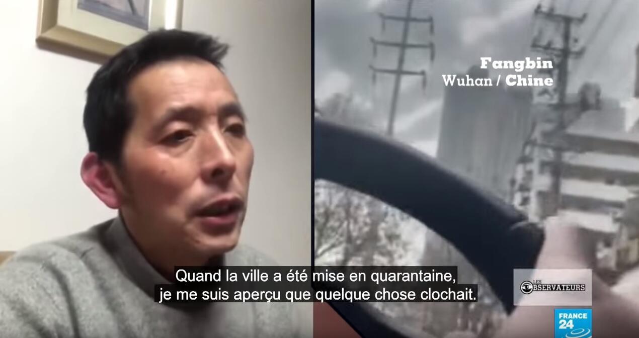 Avant son arrestation, nous avons pu parler à Fangbin, reporter citoyen qui tentait de documenter la situation à Wuhan.