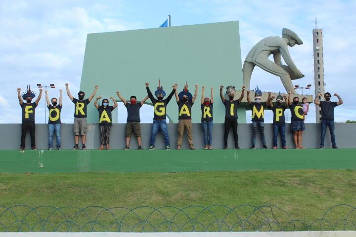 Manifestation le 13 février à Boa Vista contre la loi régularisant l'orpaillage et l'utilisation du mercure dans l'État de Roraima.