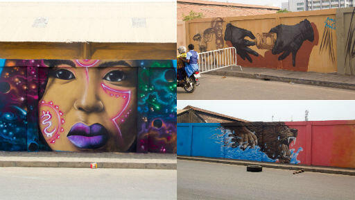 """Le festival """"Effet Graff"""" à Cotonou au Bénin vise à célébrer l'Afrique à travers le graffiti. Photos prises par """"Effet Graff""""."""