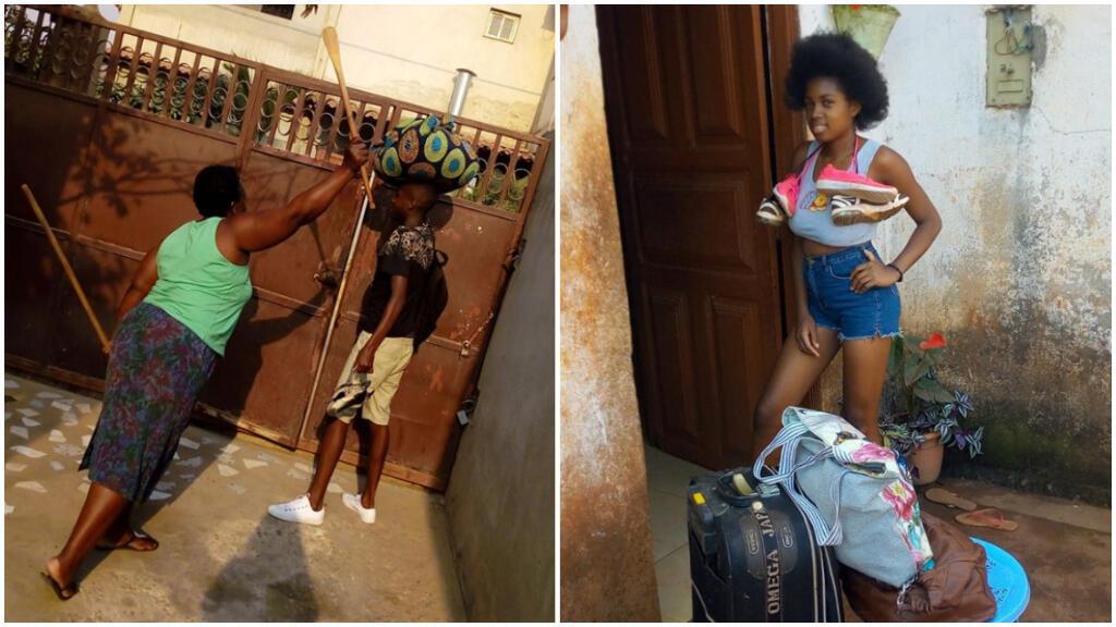 Photo de gauche : compte Facebook de Benilson Wander Adriano. Photo de droite : compte Facebook de Rosimeury Teixeira.