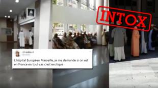 Ces images ont bien été filmées à l'hôpital européen de Marseille... mais elles ne montrent pas du tout ce qu'elles prétendent.