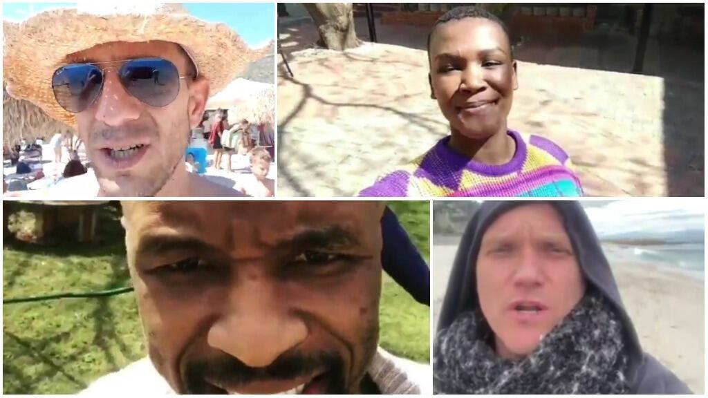 Screen grabs from the videos below.
