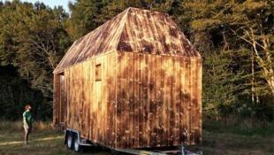 The tiny house built by the Quatorze organisation. (Photo: Quatorze)