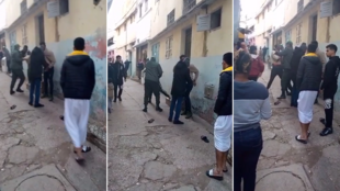 These screengrabs are from a video showing police arresting two migrants in the Takadoum neighbourhood in Rabat. The incident took place on January 28, 2021, according to our Observer, who sent us this video. © Youtube