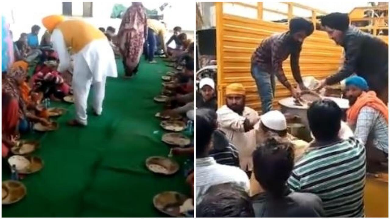 Des sikhs organisent des langars, des distributions gratuites de nourriture. Crédits : DSGMC