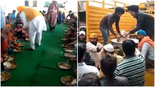 Sikhs organising langars – distributions of free food. Photo credit: DSGMC
