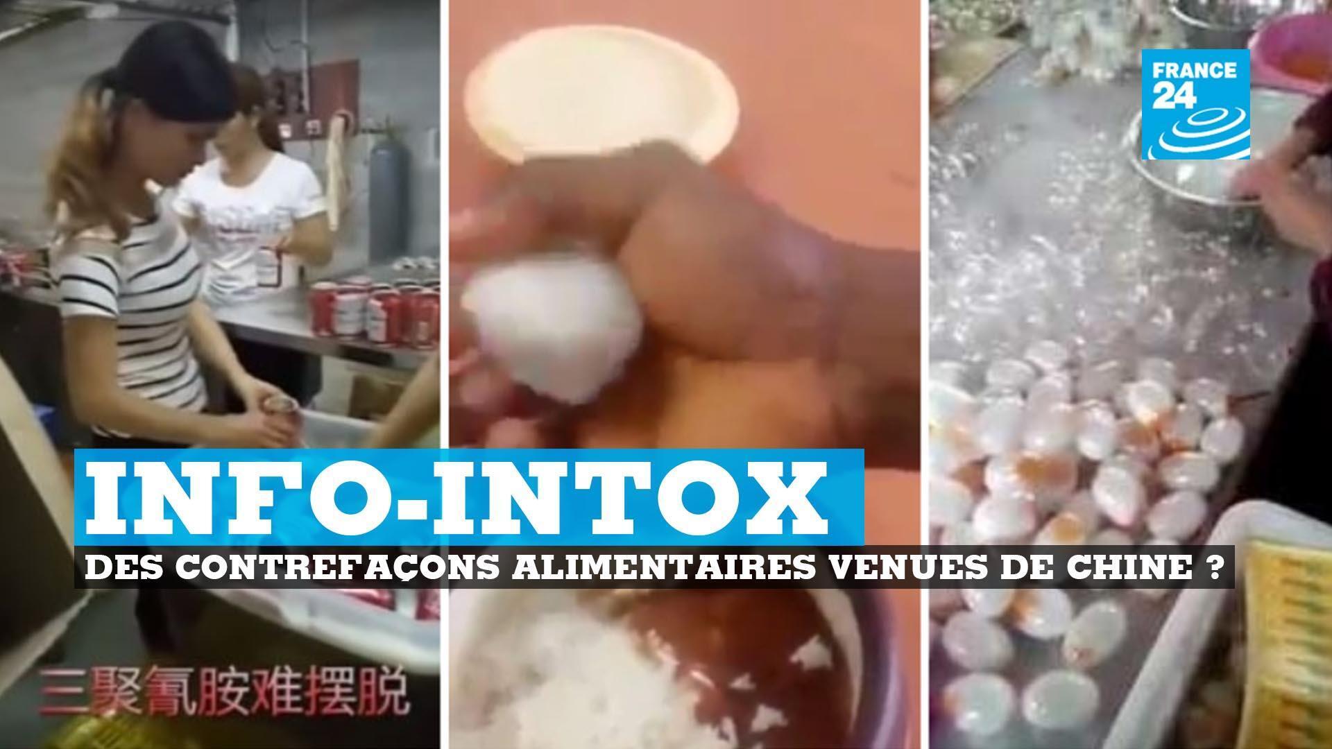 Fausse bière Budweiser, riz et oeufs en plastiques... les contrefaçons dvenant de Chine seraient fréquentes si on en croit internet... mais certaines vidéos sont totalement sorties de leur contexte.