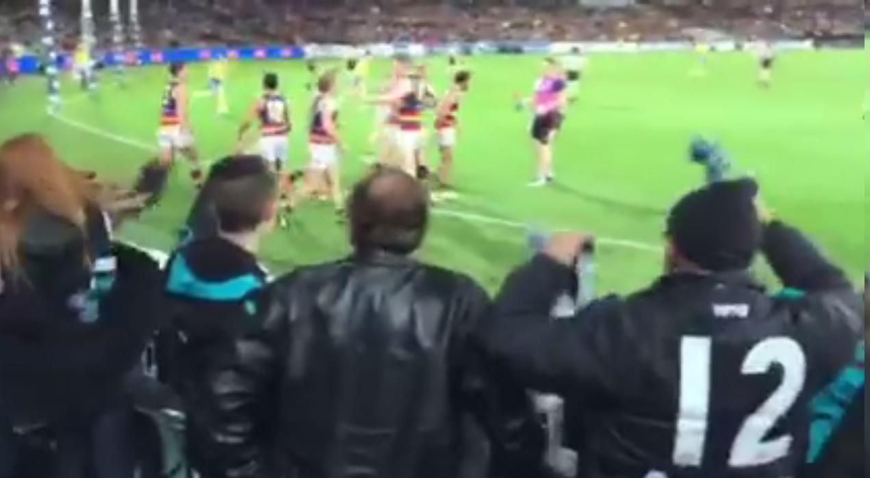 Capture d'écran de la vidéo qui a fait polémique en Australie.