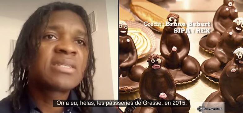 Capture d'écran de notre émission : les patisseries comme celles-ci sont accusées de véhiculer le racisme.