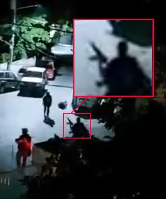 Capture d'écran de la vidéo, zoom réalisé par la rédaction des Observateurs de France 24.