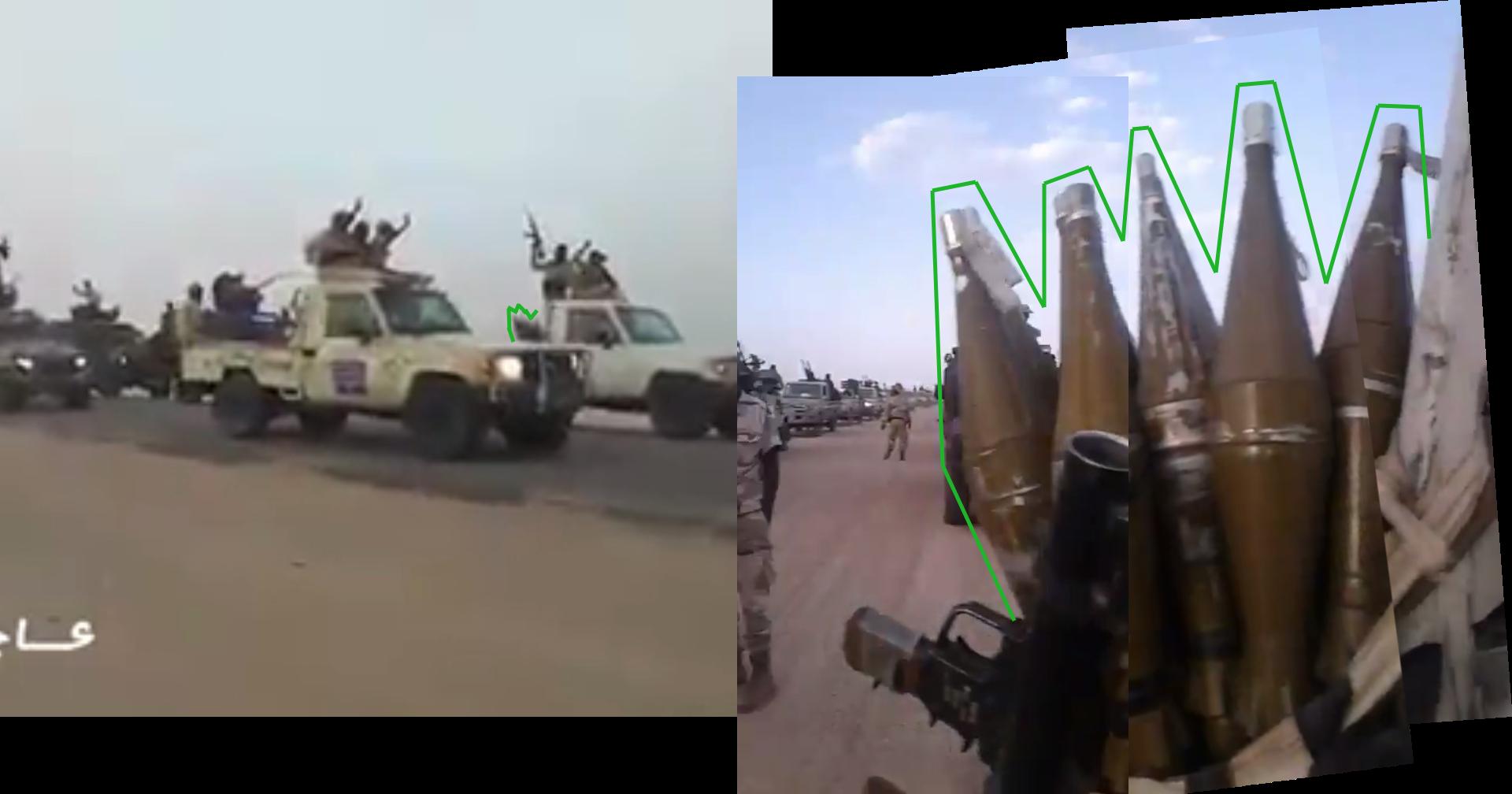 Captures d'écran de la vidéo de 2017, à gauche, et de celle ayant circulé récemment à droite.