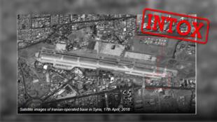 Des médias israéliens ont partagé une image satellite affirmant qu'il s'agissait d'une base militaire iranienne en Syrie... mais il s'agit en fait d'un aéroport civil à Téhéran.