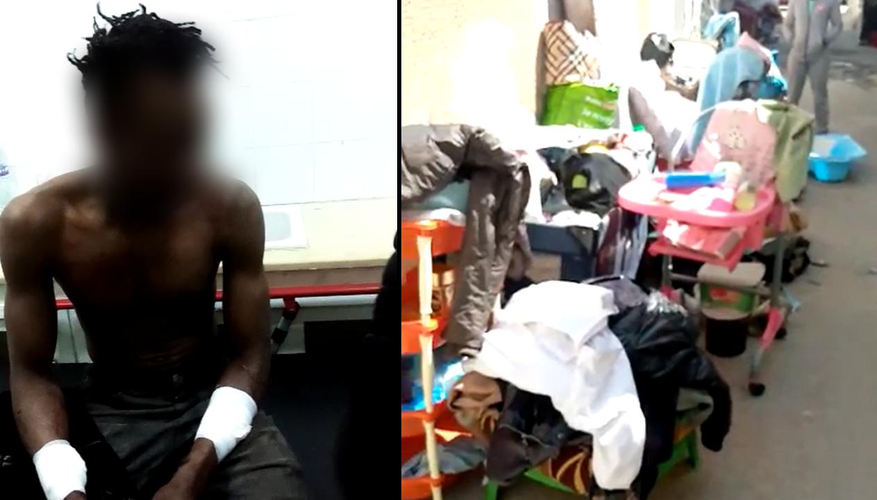 هذه الصورة تظهر أمادو، مهاجر من ساحل العاج يعيش في العاصمة تونس ويقول إنه تعرض لاعتداء من تونسيين بعد خلاف مع صاحب محل سكناه. صور مثبتة دي أر.